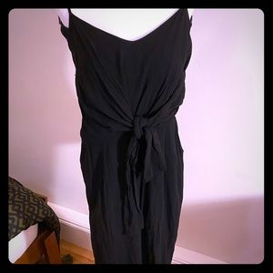 Everly Jumpsuit w. Tie Front & Pockets